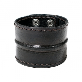 """Ujjala\"" leather bracelet, Black"