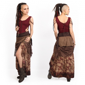 """Utopia\"" 3in1 skirt, Brown with black brown patterns"