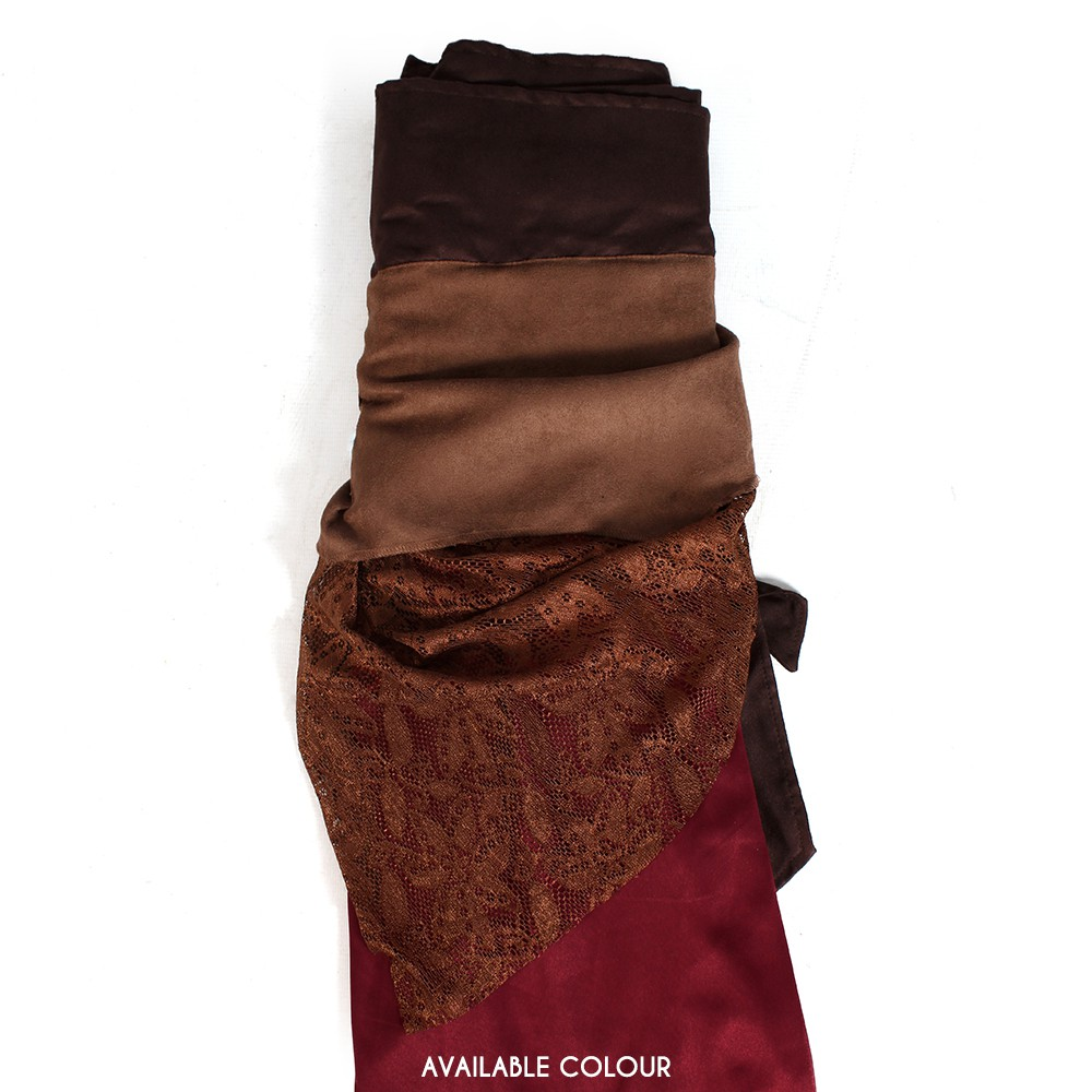 """Utopia"" 3in1 skirt, Deepred and brown"