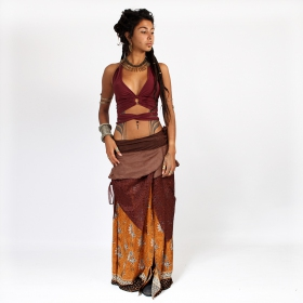 """Utopia\"" skirt, Brown with camel patterns"