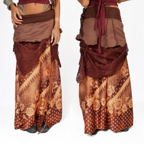"""Utopia\"" skirt, Brown with wine patterns"