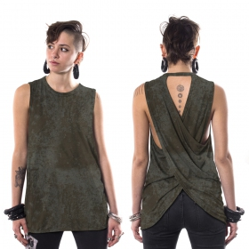 """V-173\"" sleeveless t-shirt, Mottled Khaki green"