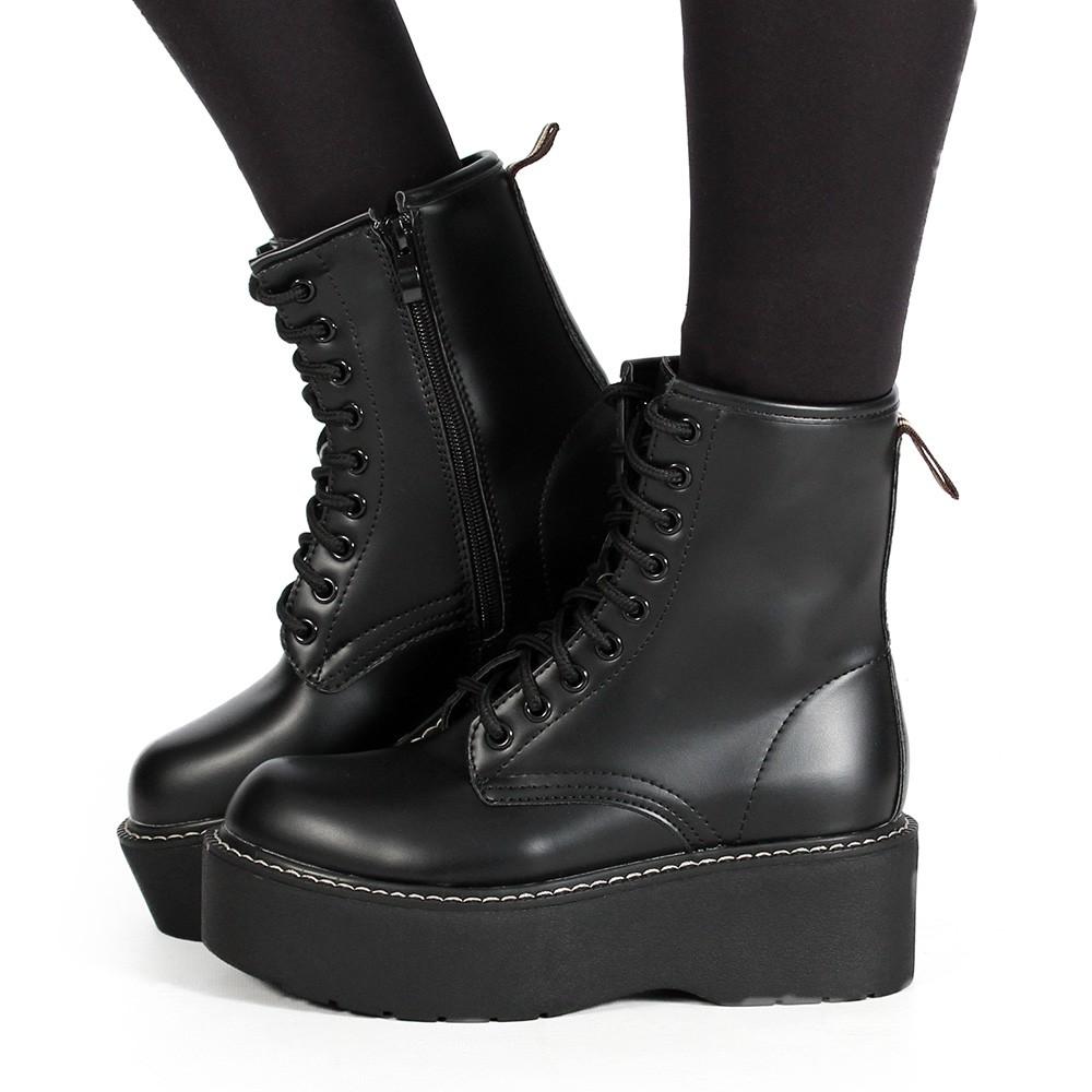 "\""Vaea\"" Platform boots, Black"