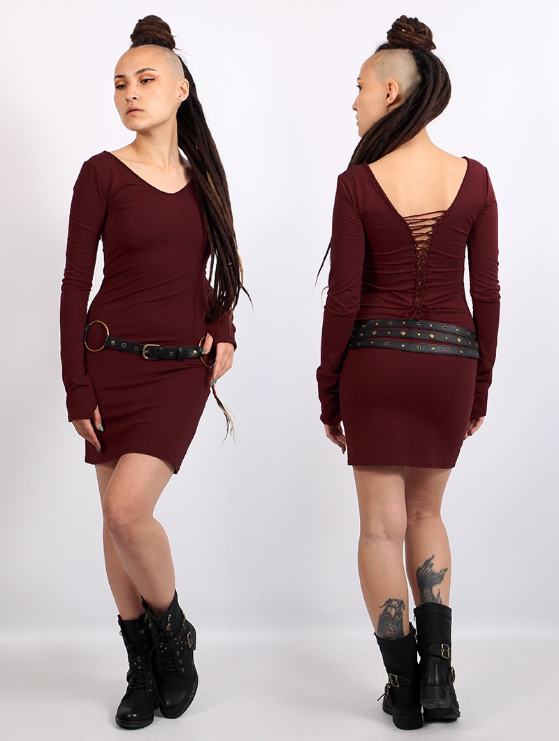 "\""Valkyrie\"" dress, Wine"