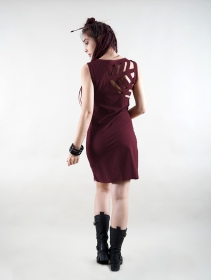 """Varuni\"" sleeveless dress, Wine"