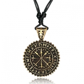 """Vegvisir Guardian\"" necklace"