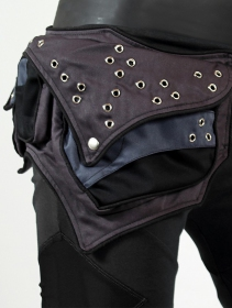 """Venus\"" pocket belt, Black and Dark grey"