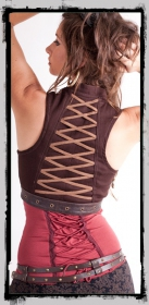 "Vest \""cyber goth\\\"" fairy floss, black"