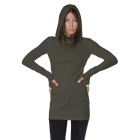 """Viamara\"" long top / tunic, Khaki green"