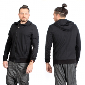 "\""Vikarna\"" zipped hoodie, Black"