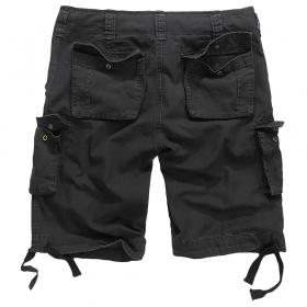 "\""Vintage\"" cargo combat shorts, Black"