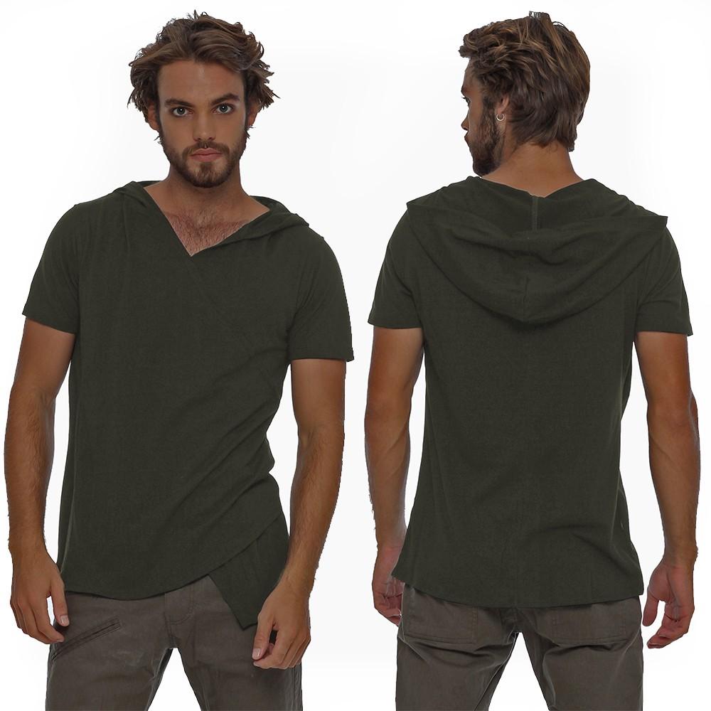 "\""Vipa\"" hooded t-shirt, Khaki green"