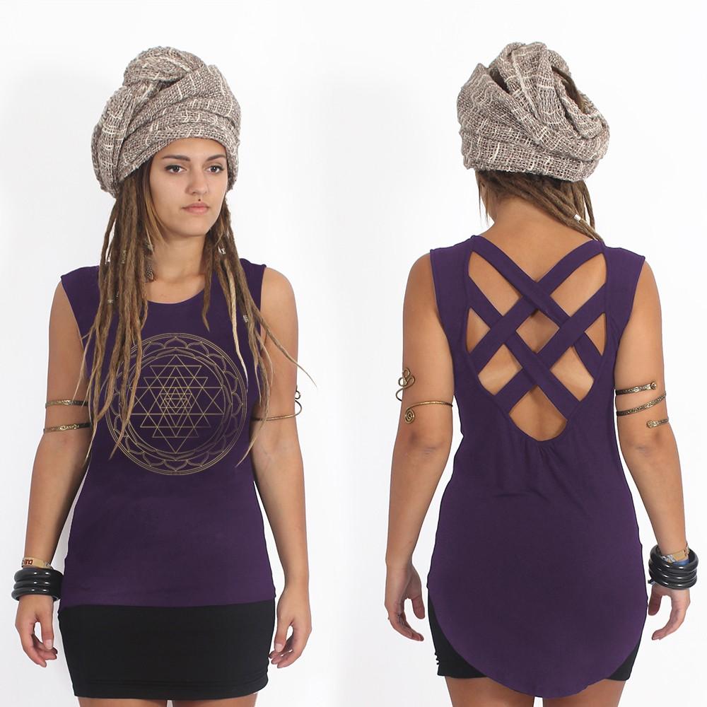 "\""Vishakha\"" tank top, Dark purple"