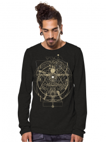 """Vitruvian\"" Long sleeved shirt, Black"