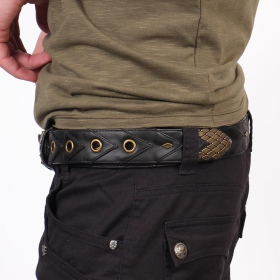 """Void\"" belt, Black faux leather"