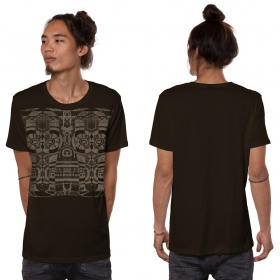 """VooDoo\"" t-shirt, Dark brown"