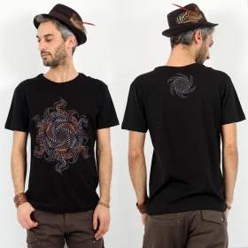 """Vortex\"" t-shirt, Black"