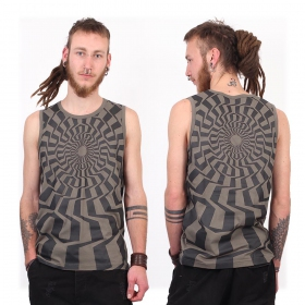 """Vortex\"" tank top, Grey"