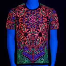 """Vortex\"" UV t-shirt, Black"