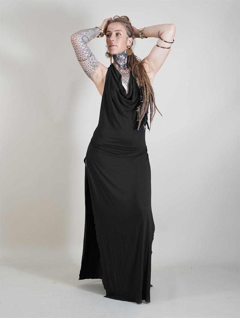 "\""Waheeda\"" long dress, Black"