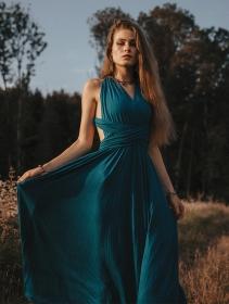 "\""Wakiza\"" dress, Blue"