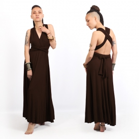 """Wakiza\"" dress, Dark brown"