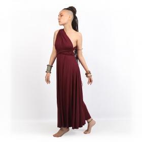 "\""Wakiza\"" dress, Wine"