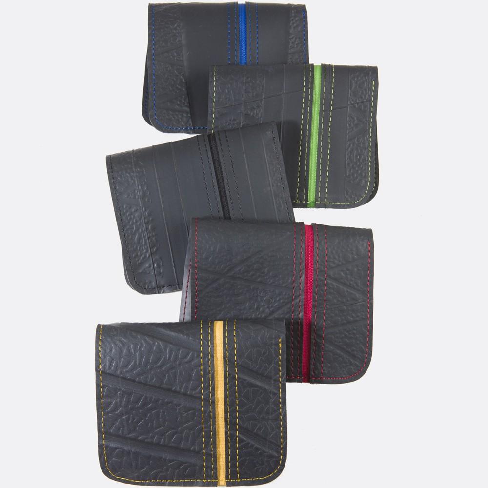 """Wallet inner tire tube \\\""""sapu dody\\\"""", black-light green"""