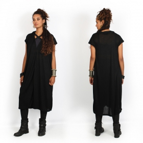"""Waraka\"" oversize maxi dress, Black"