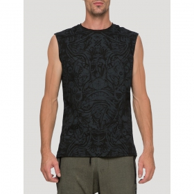 """Warrior\"" sleeveless T-shirt, Black"