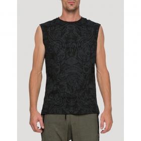 "\""Warrior\"" sleeveless T-shirt, Black"
