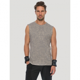 """Warrior\"" sleeveless T-shirt, Steel"