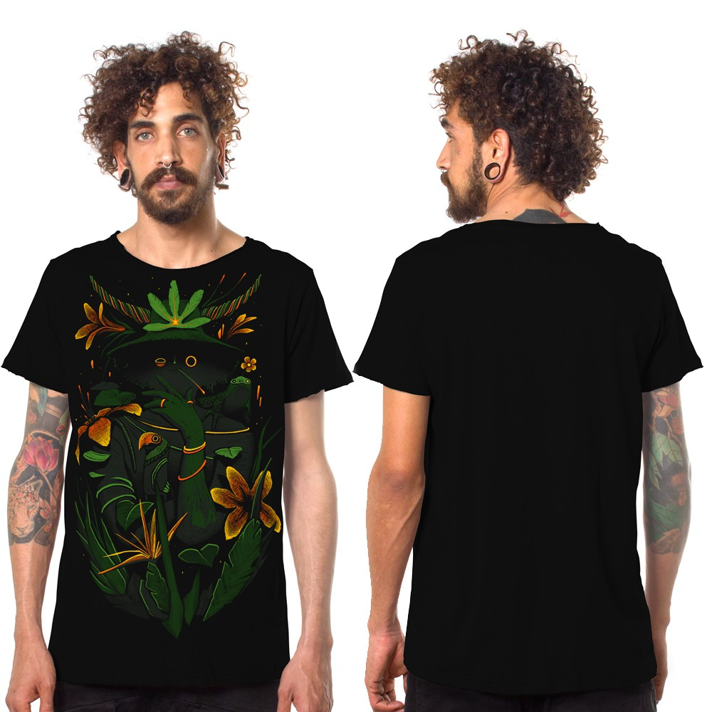 """Where is the forest\"" t-shirt, Black"