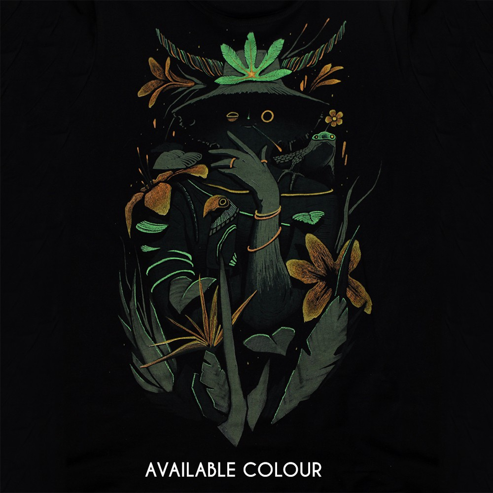 """Where is the forest"" t-shirt, Black"
