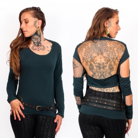 """Wild\"" top, Dark teal"