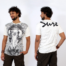 """Wild Elephant\"" t-shirt, White"