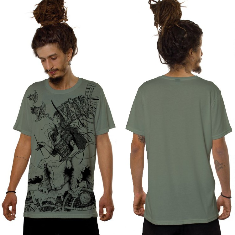 """Witch\"" t-shirt, Light green"