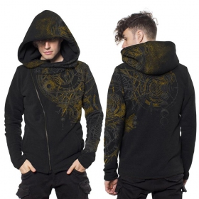 """Witcher\"" zip up hoodie, Black"