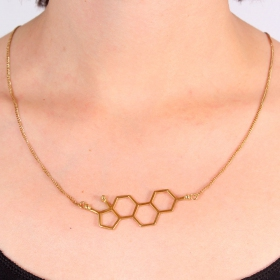 """Woman\"" necklace, Estrogen molecule"