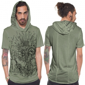 """Wood Spirit\"" t-shirt, Light green"