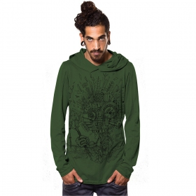"\\\""Wood Spirit\\\"" thin sweatshirt, Green"