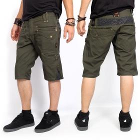 "\""Xtream\"" shorts, Dark khaki green"