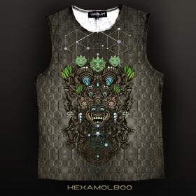 """Yacxilan \\\""""Haxamolboo\\\"""" sleeveless T-shirt, Khaki"""