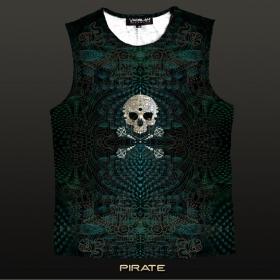 """Yacxilan \\\""""Pirate\\\"""" sleeveless T-shirt, Dark turquoise"""