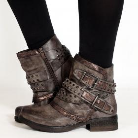 "\""Yara\"" boots, Taupe"
