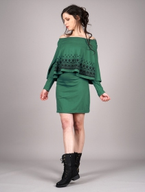 """Yarayn Ethnic Arrow\"" poncho dress, Forest"