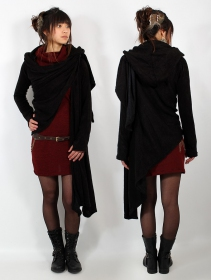 danaeriz hooded long sleeved shawl cape yggdrazil pagan witchy black