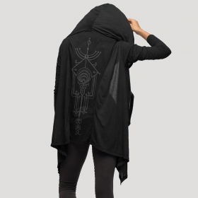 """Yingyang\"" light kaftan vest, Black"
