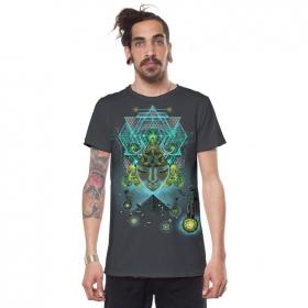 "\""Yogi Traveller\"" t-shirt, Steel"