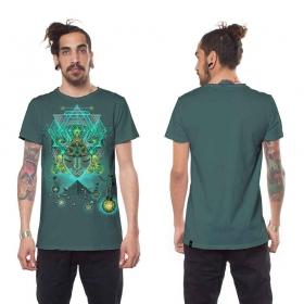 "\""Yogi Traveller\"" t-shirt, Turquoise"